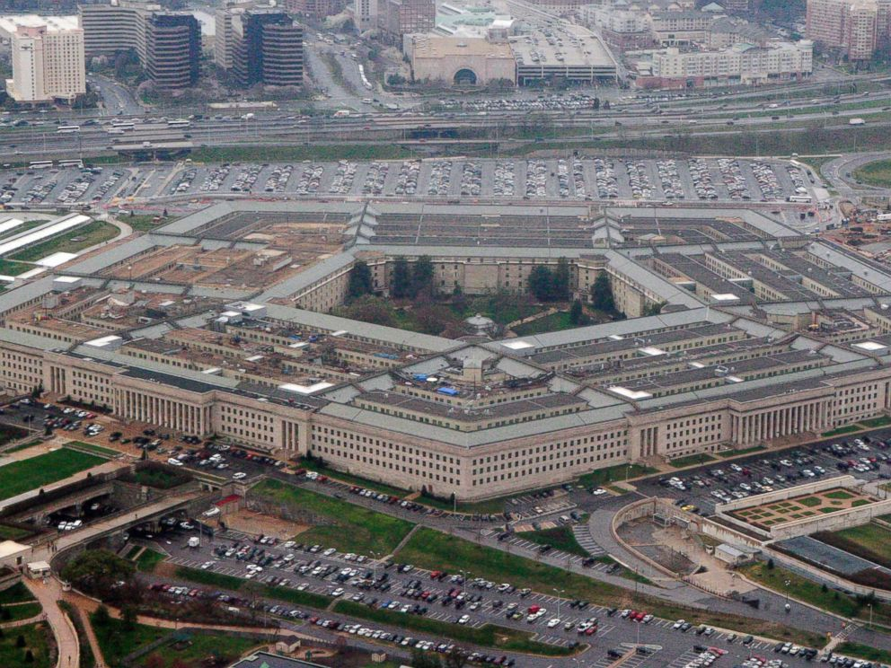 PHOTO: The Pentagon is seen in this aerial view in Washington, D.C., March 27, 2008.