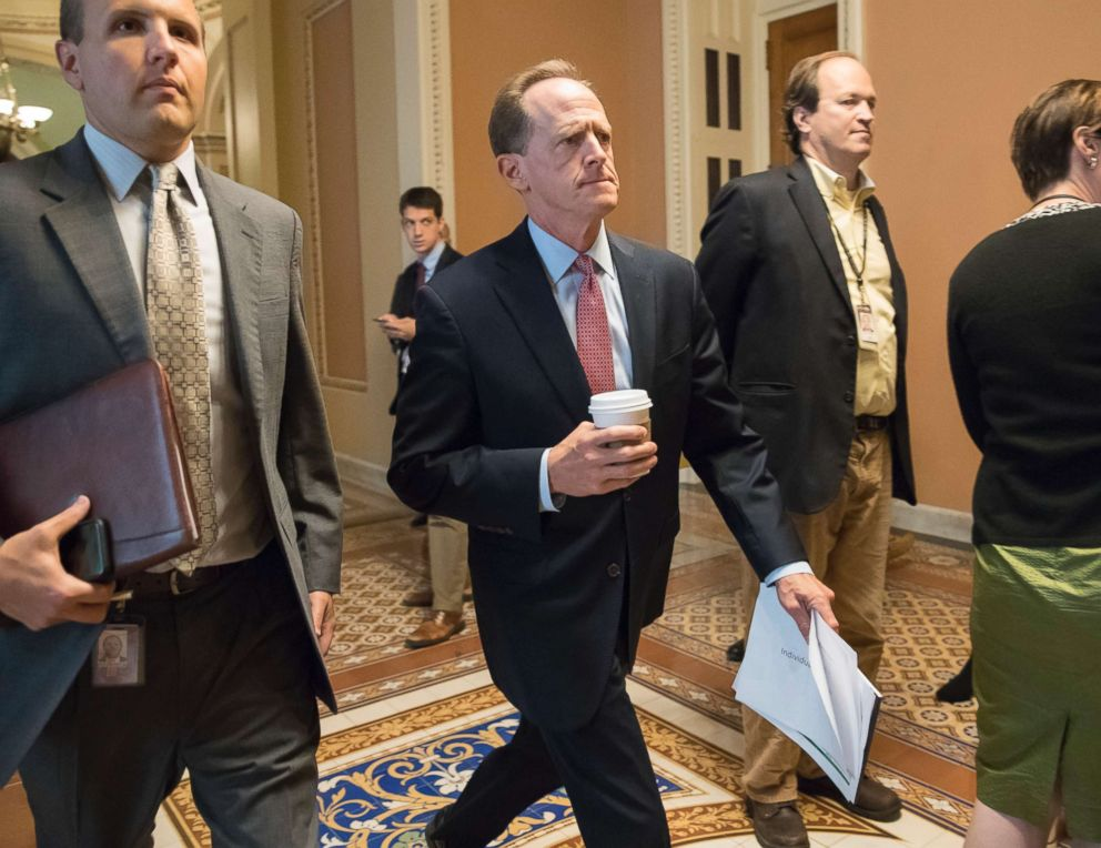 PHOTO: Sen. Pat Toomey in Washington, Sept. 12, 2017.