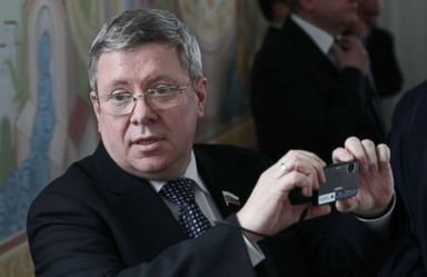 PHOTO: Russian Council of the Federation Deputy Chief Alexander Torshin is seen during a meeting, April, 3, 2012 in Maloyaroslavets, Kaluga region, Russia.