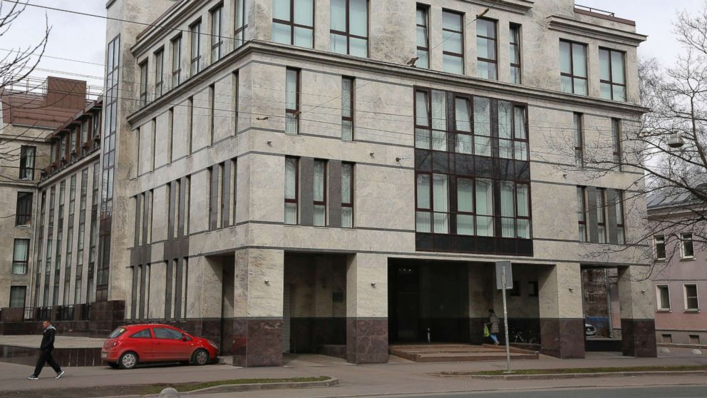 """The building known as the """"troll factory"""" or the Internet Research Agency in St. Petersburg, Russia, is pictured in this April 19, 2015 file photo."""