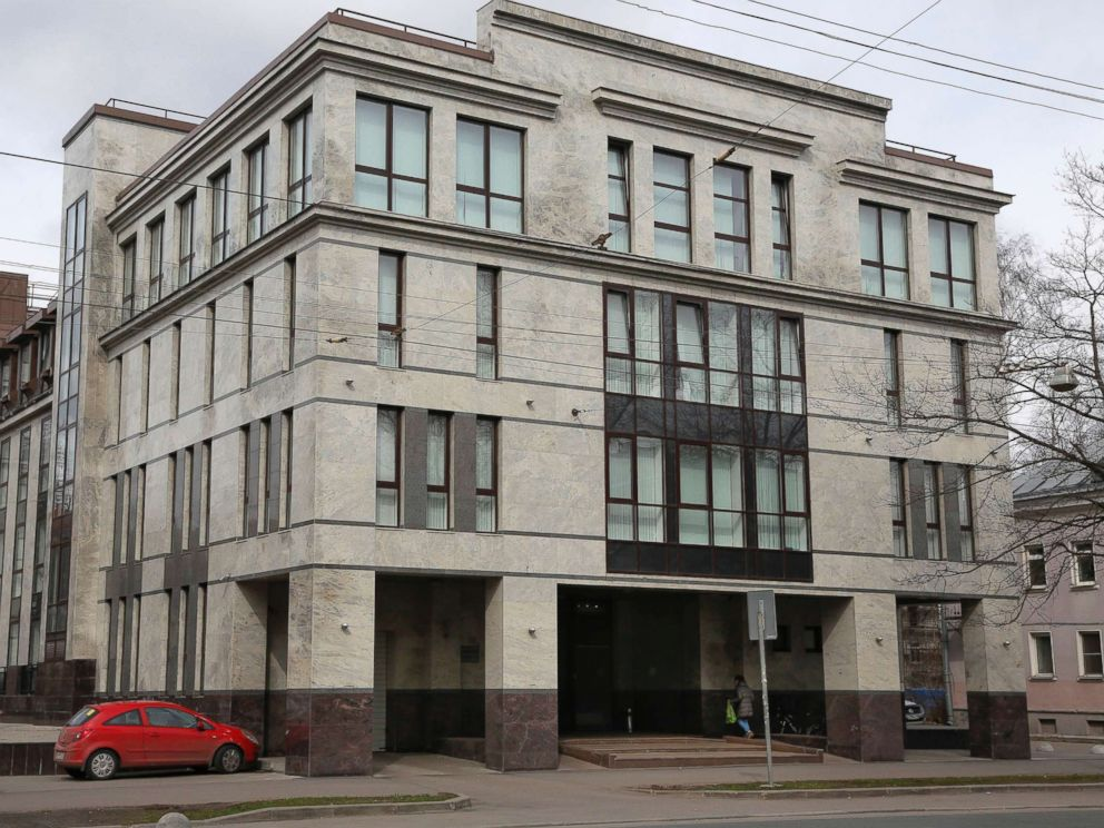 PHOTO: The building known as the troll factory or the Internet Research Agency in St. Petersburg, Russia, is pictured in this April 19, 2015 file photo.