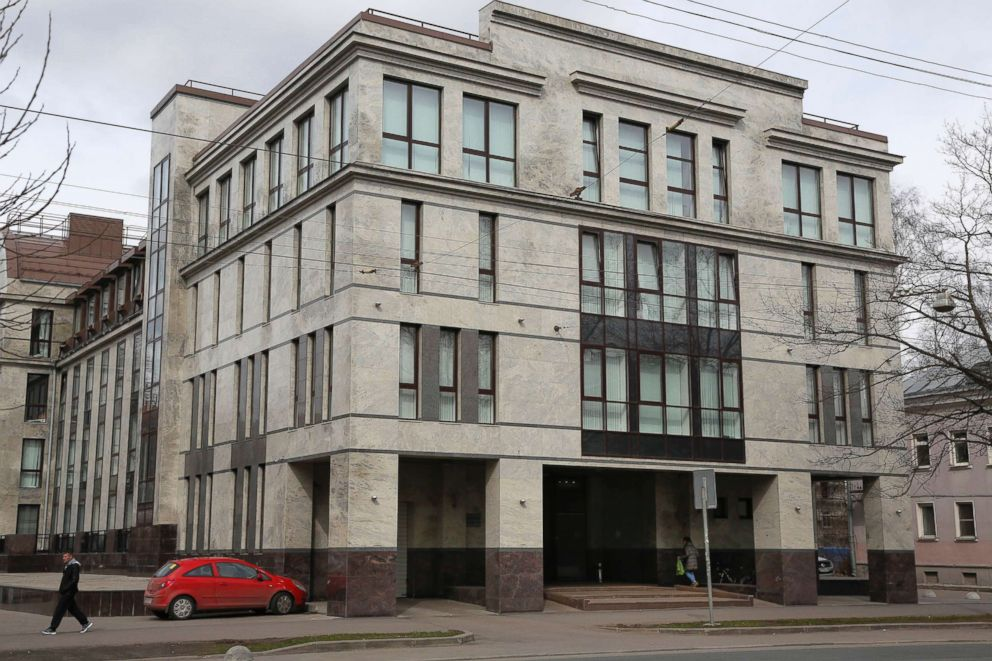 PHOTO: The building known as the troll factory or the Internet Research Agency in St. Petersburg, Russia, is pictured in this April 19, 2015, file photo.