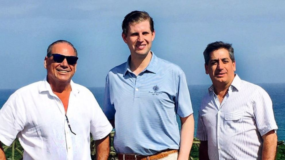 Cap Cana developers Ricardo and Fernando Hazoury welcomed Eric Trump to the Dominican Republic in February 2017 and posted a photo on their website to mark the occasion.