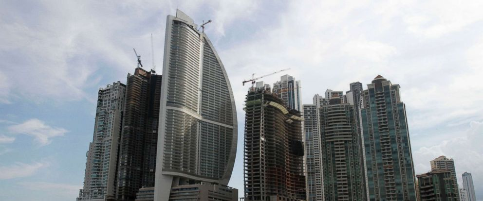 PHOTO: A photo from July 4, 2011 shows the Trump International Hotel Panama, third building from left, in Panama City.