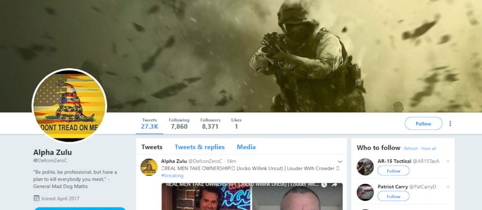 PHOTO: A screen grab from the Twitter website shows an account that was believed to be part of a suspected bot network that was recently removed by Twitter.