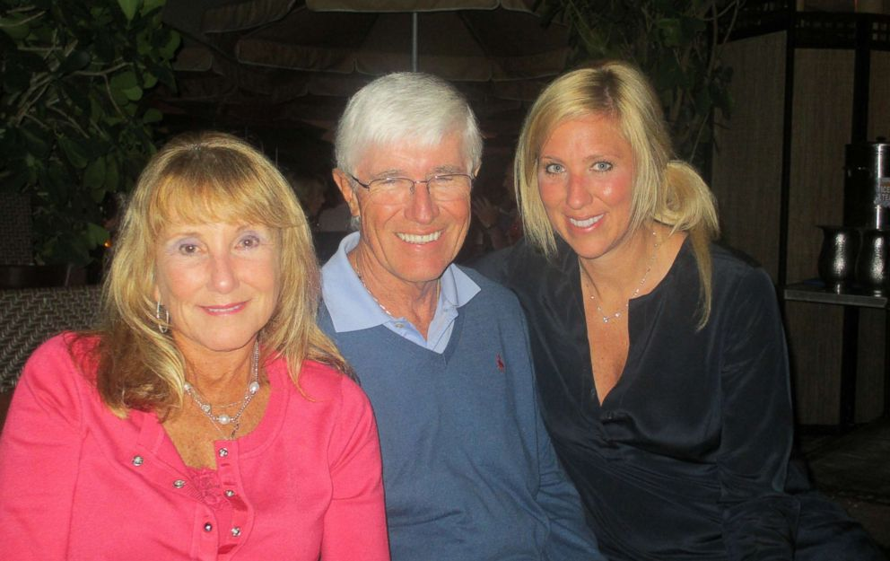 PHOTO: Laura Schwab with her parents Marie and Matt in this undated file photo.