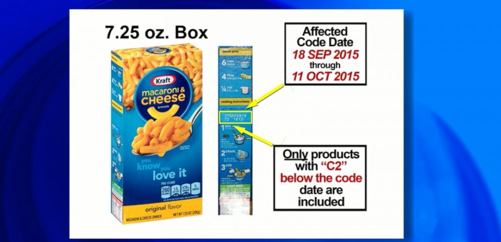 VIDEO: The company voluntarily recalled 242,000 cases of Macaroni and Cheese because some boxes may contain small pieces of metal.