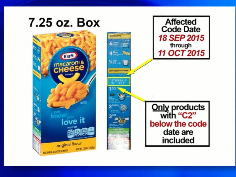 Kraft Recalls 242,000 Mac and Cheese