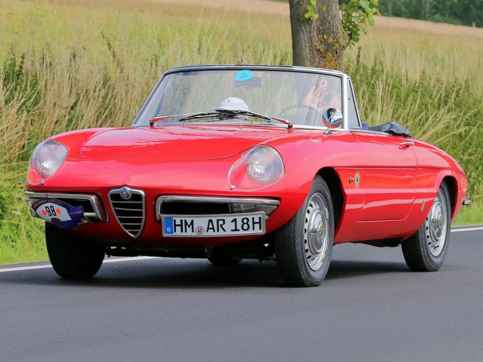 PHOTO: A 1966 Alfa Romeo Spider Duetto is pictured on the road in Bad Pyrmont, Germany, July 17, 2015.