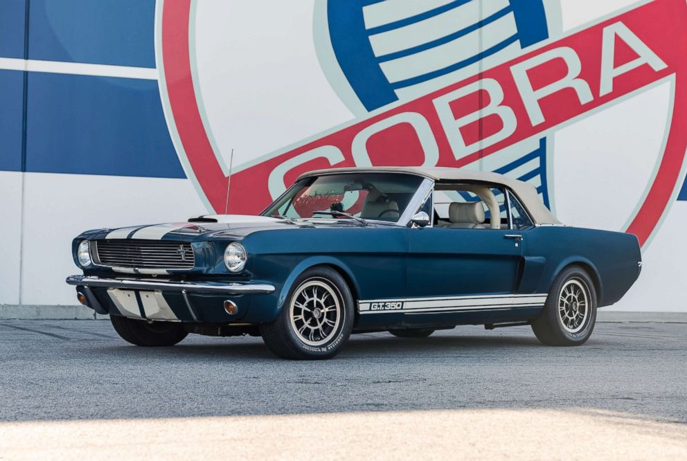 PHOTO: A 1966 Ford Mustang Shelby GT350 continuation series convertible sold for $201,600, including premium, in June. Bonhams auctioned off several Mustangs belonging to Carroll Shelby.