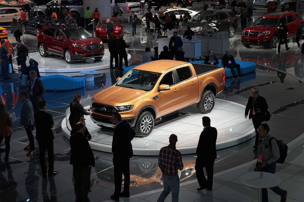 PHOTO: Ford introduces the 2019 Ranger midsize pickup truck at the North American International Auto Show on Jan. 15, 2018 in Detroit.
