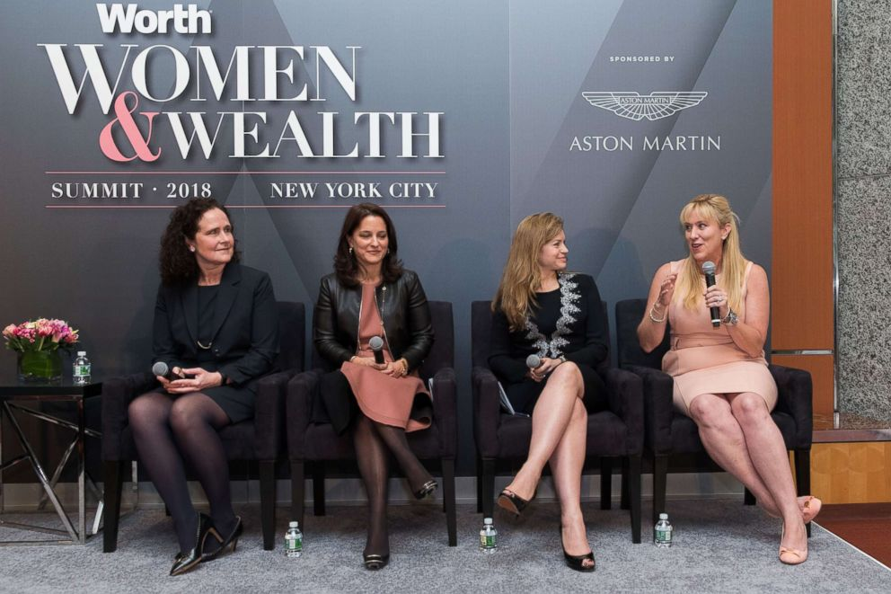 PHOTO: Laura Schwab was a panelist on the Worth Women & Wealth Summit in New York, April 2018.