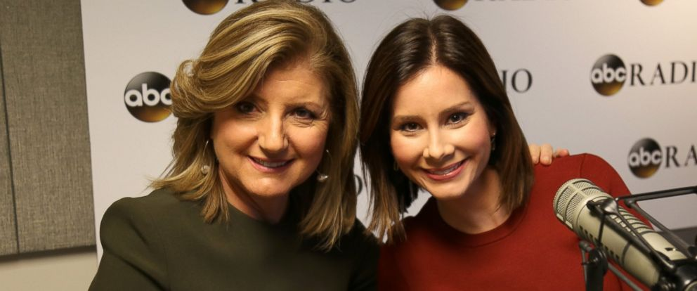 PHOTO: Arianna Huffington joins Rebecca Jarvis on her new ABC News podcast set to launch in January 2017.