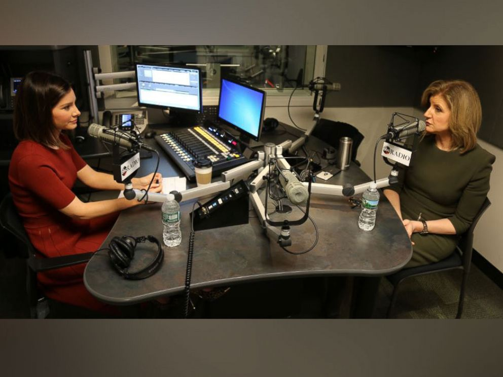 PHOTO: Arianna Huffington joins Rebecca Jarvis on her new podcast set to launch January 2017.