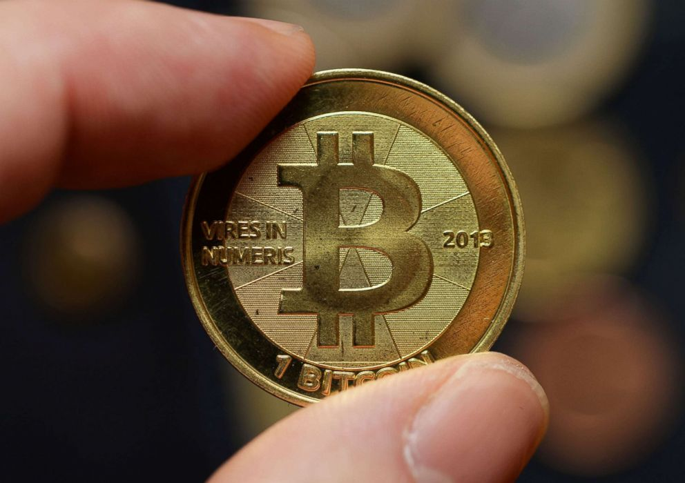 PHOTO: A Bitcoin is pictured in this Nov. 24, 2013, file photo.