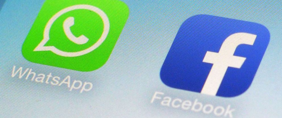 PHOTO: This Feb. 19, 2014, file photo, shows WhatsApp and Facebook app icons on a smartphone in New York.