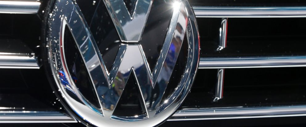 PHOTO:The VW Logo is photographed at a car at the Car Show in Frankfurt, Sept. 22, 2015.