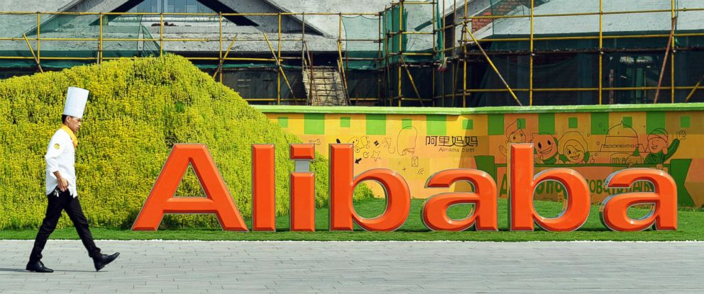 PHOTO: A chef walks in the headquarter campus of Alibaba Group in Hangzhou, China, Aug. 27, 2014.