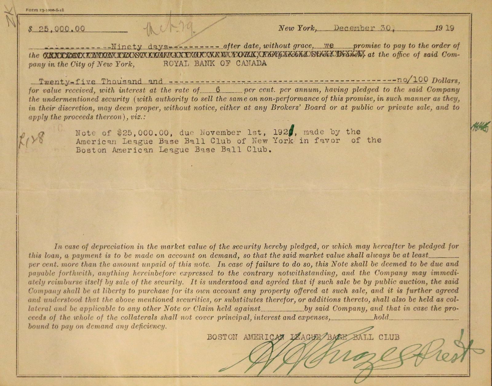Babe ruth contract-2310