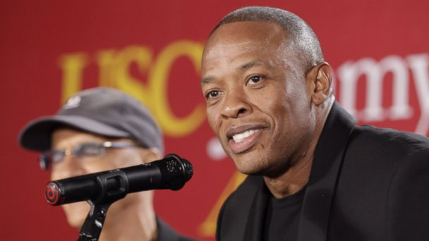 "Hip-hop mogul Dr. Dre, announces a $70 million dollar donation to create the new ""Jimmy Iovine and Andre Young Academy for Arts and Technology and Business Innovation,"" May 15, 2013."