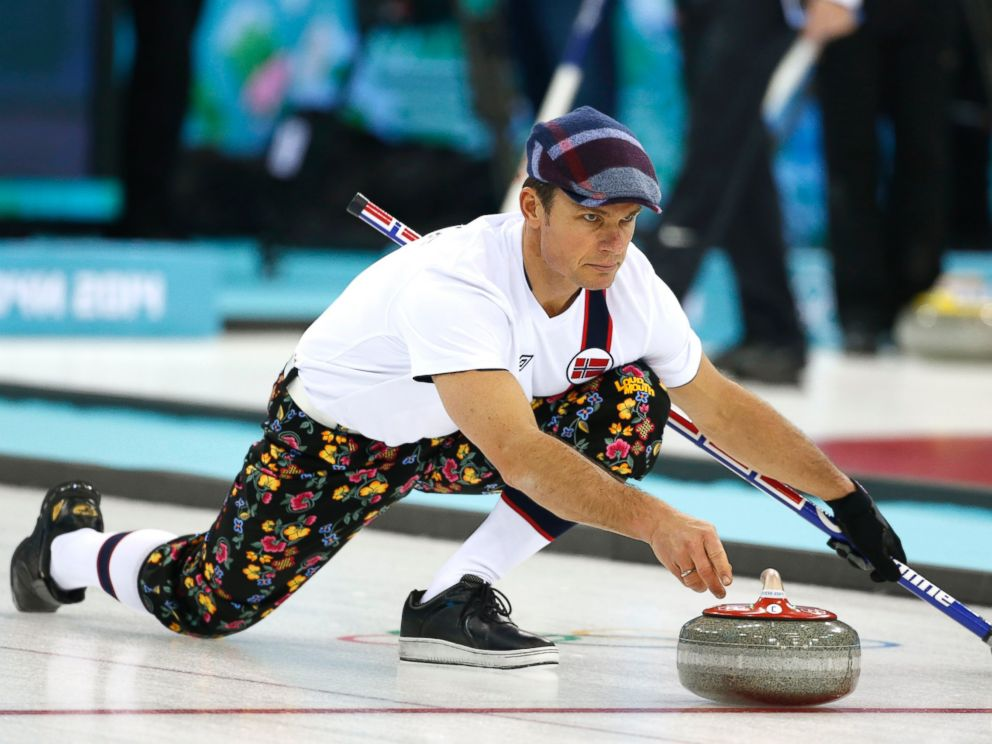 During curling training at