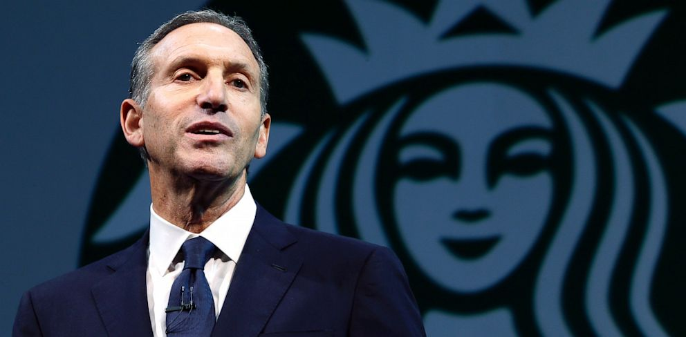 PHOTO: Starbucks CEO Howard Schultz speaks at the companys annual shareholders meeting, March 20, 2013, in Seattle, Wash.