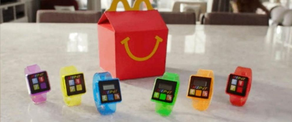 PHOTO: McDonalds is removing fitness trackers from Happy Meals, after receiving complaints of skin irritations caused by the bands.