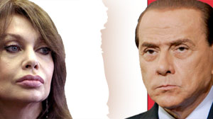 Italian Prime Minister Silvio Berlusconi, and soon-to-be ex-wife Veronica Lario