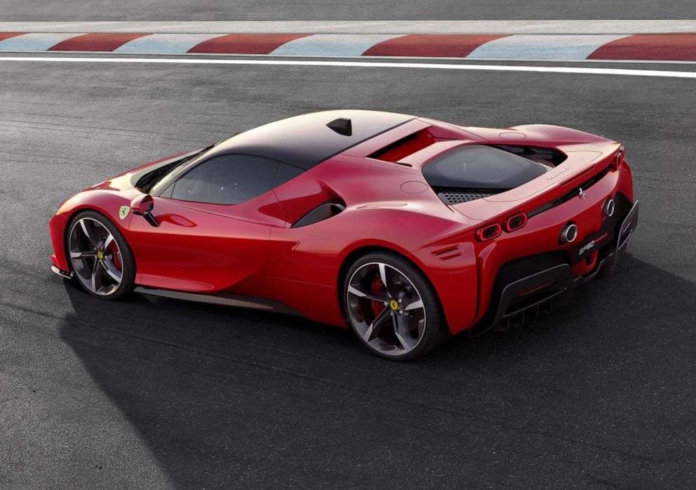 PHOTO: The SF90 Stradale plug-in hybrid is the fastest Ferrari production car to date.