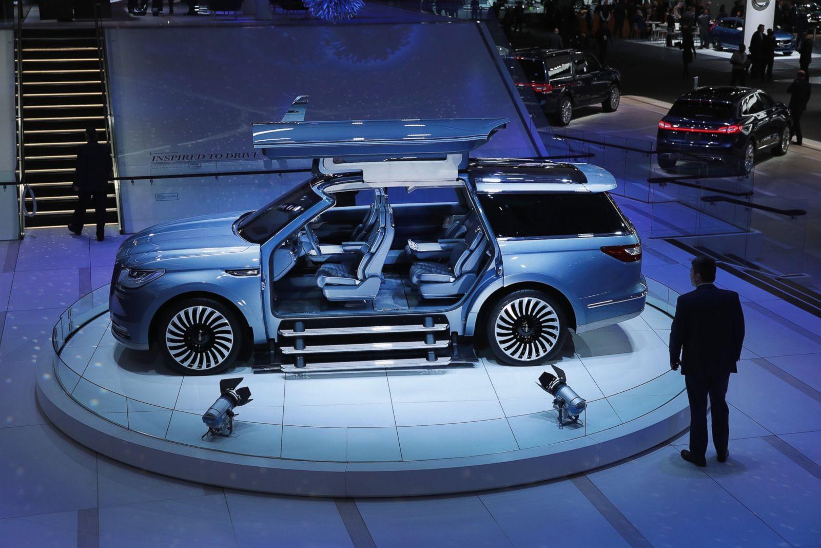 Lincoln Navigator Picture Detroit Auto Show Vehicles Unveiled Abc News