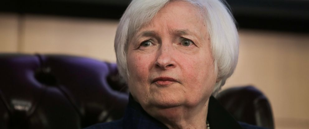 PHOTO: Federal Reserve Board Chairwoman Janet Yellen discusses monetary policy and the economic outlook at Stanford University on January 19, 2017 in Stanford, California.