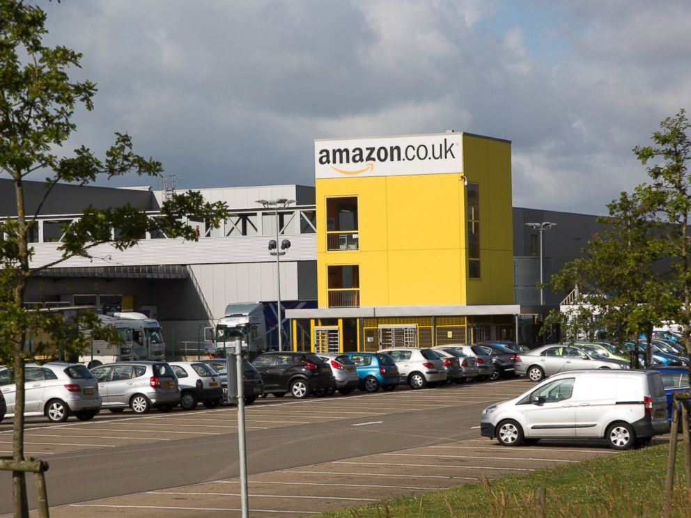 PHOTO: Amazon distribution center headquarters in Swansea, West Glamorgan, South Wales, U.K.