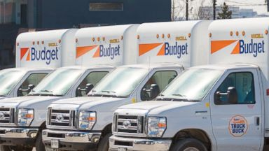 PHOTO: Budget Truck Rental, LLC is the second largest truck rental company in the continental U.S. with around 2,800 businesses and 32,000 trucks across the country, March 3, 2015, in Toronto.