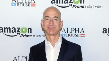 """PHOTO: Amazon.com founder and CEO Jeff Bezos attends Amazon Studios Premiere Screening for """"Alpha House"""" in this Nov. 11, 2013, file photo."""