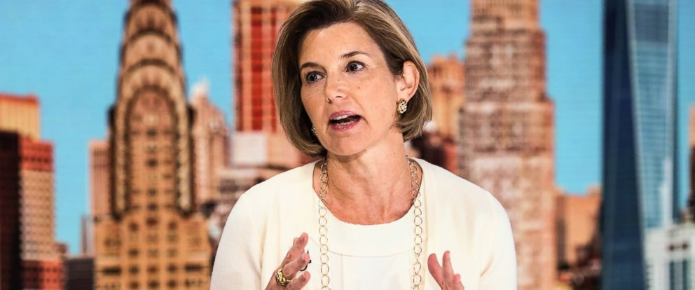 PHOTO: Sallie Krawcheck, chief executive officer and co-founder of Ellevate Financial Inc., speaks during a Bloomberg Television interview on Aug. 3, 2016, in New York City.