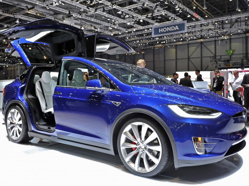 PHOTO: A Tesla Model X is displayed during the Geneva Motor Show 2016 in Geneva, Switzerland.