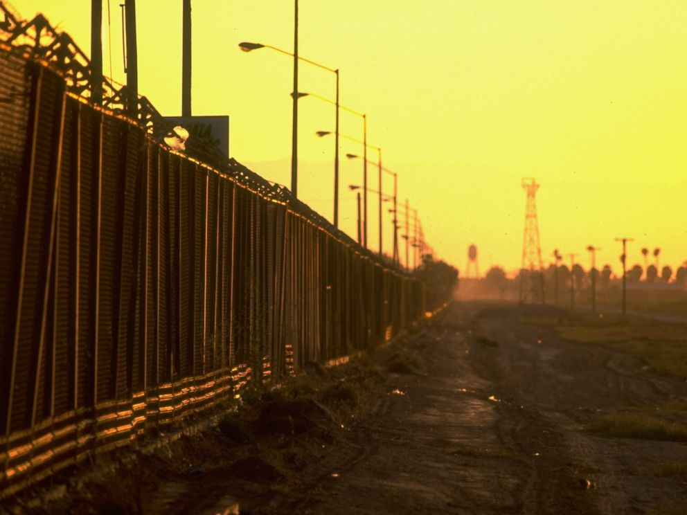 PHOTO: The border fence between Mexico and the US at Calexico, Calif. is pictured here in this undated photo.