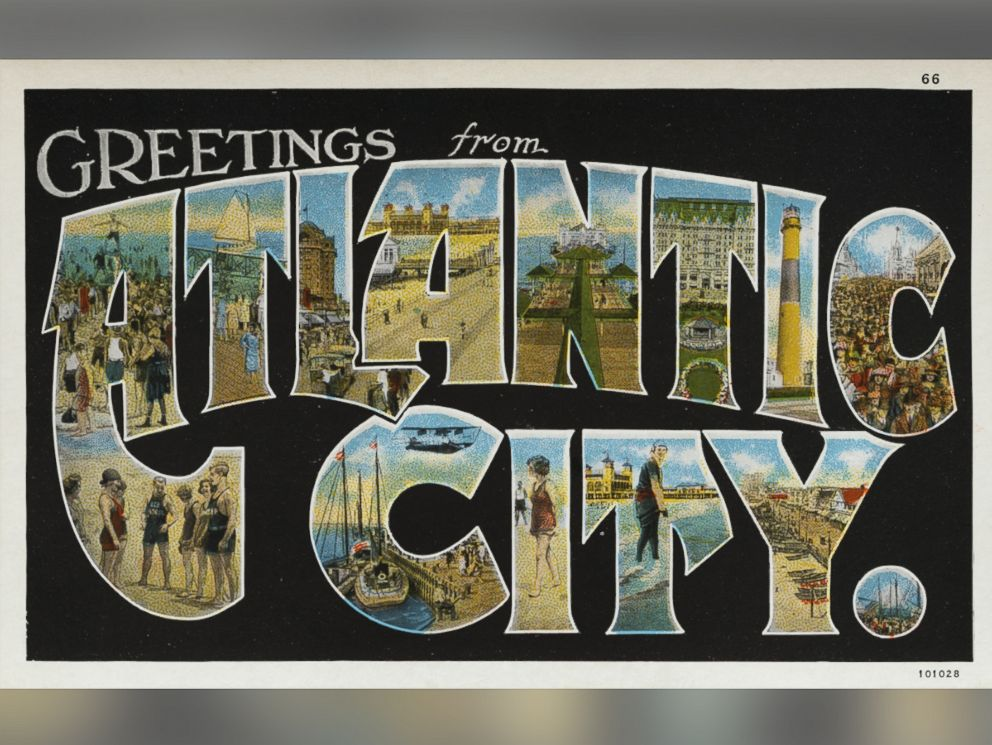 PHOTO: A greeting card from Atlantic City, N.J., circa 1930.