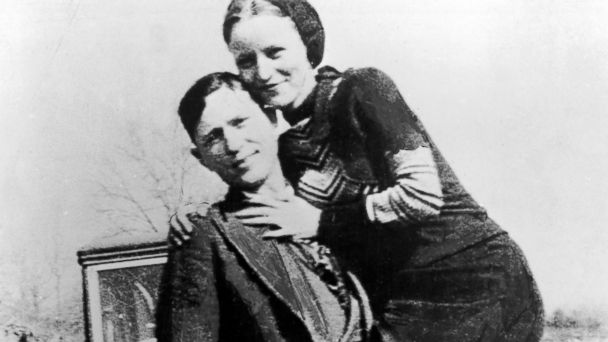 PHOTO: American bank robbers and lovers, Clyde Barrow and Bonnie Parker, popularly known as Bonnie and Clyde, circa 1933.