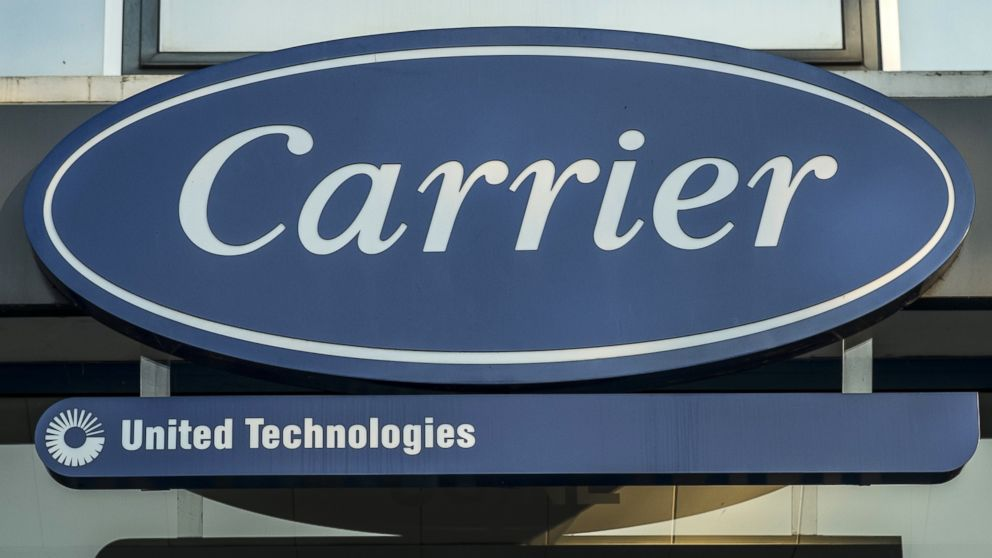 The Carrier logo is pictured here in this undated file photo.