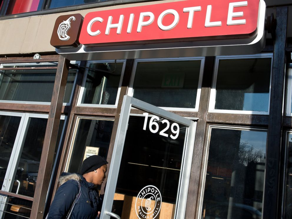 PHOTO: In this file photo, a woman is pictured walking into a Chipotle restaurant in Washington, D.C. on Jan. 31, 2014.