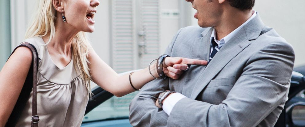 PHOTO: A couple is pictured arguing in this stock photo.
