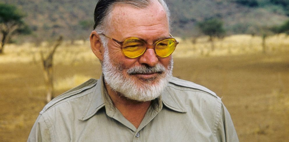 PHOTO: Author Ernest Hemingway poses for a portrait while on a big game hunt in September 1952 in Kenya.