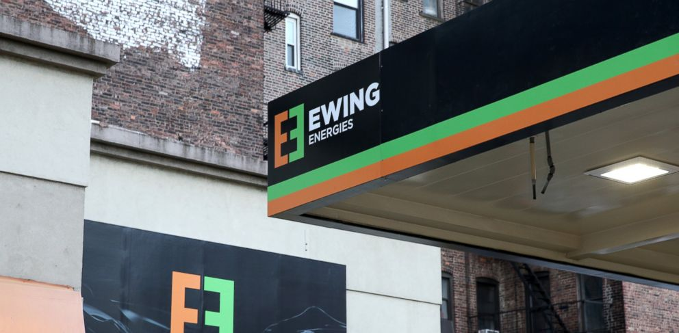 """PHOTO: The Ewing Energies flagship gas station, created to promote TNTs """"Dallas,"""" is pictured in New York City on Feb. 24, 2014."""