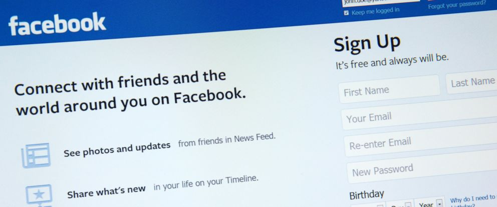 PHOTO: An undated stock photo showing the social networking site Facebook.