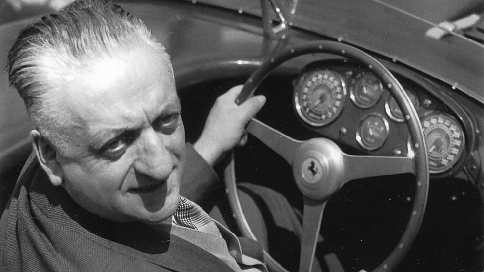 Enzo Ferrari is pictured in this undated file photo.