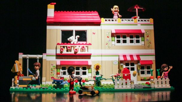 """PHOTO: A model house and figures from the Lego """"Friends"""" range for young girls."""