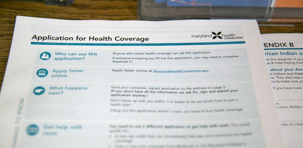 PHOTO: health insurance marketplace application