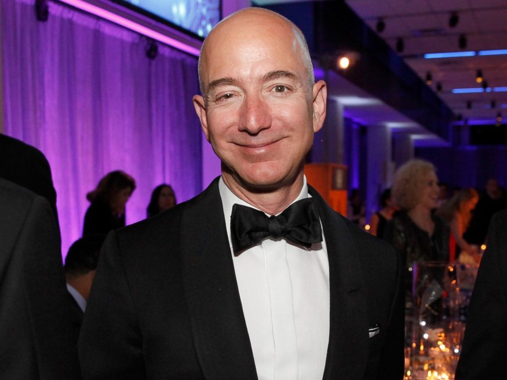 PHOTO: President and CEO of Amazon Jeff Bezos attends Liberty Science Centers Genius Gala 4.0 at Liberty Science Center in Jersey City, N.J., May 1, 2015.
