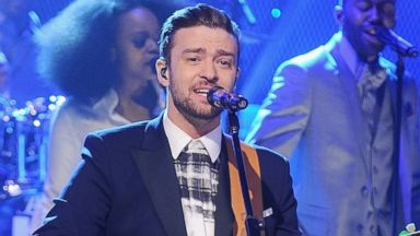 "PHOTO: Justin Timberlake performs on ""The Tonight Show Starring Jimmy Fallon"" at Rockefeller Center, Feb. 21, 2014, in New York City."
